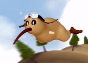Main thumb flying kiwi animated