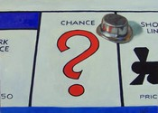 Main thumb red chance   monopoly 10x8 oil panel