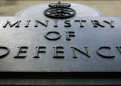 Main thumb ministry defence sign