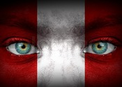Main thumb 9297286 human face painted with flag of peru